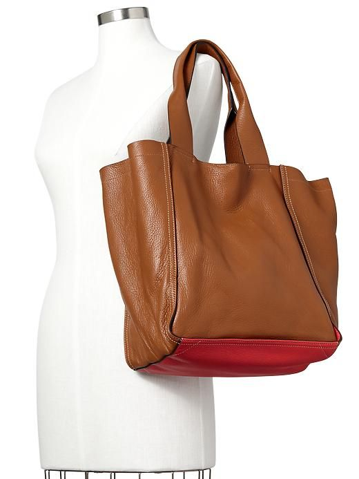 Large leather tote gap