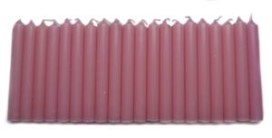 Mini Taper Candle - Light Pink (4 Inch) - Set of 20