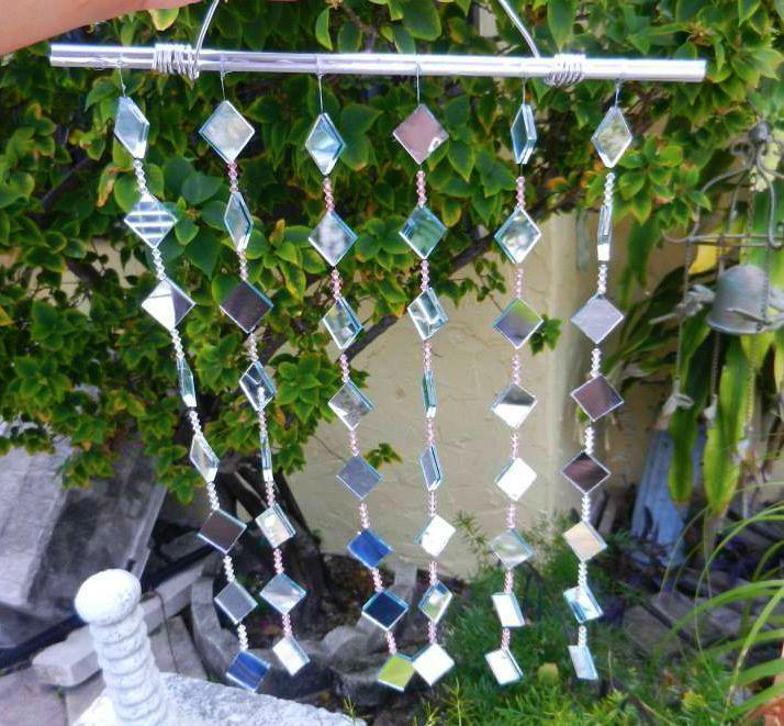 DIY mirror windchime