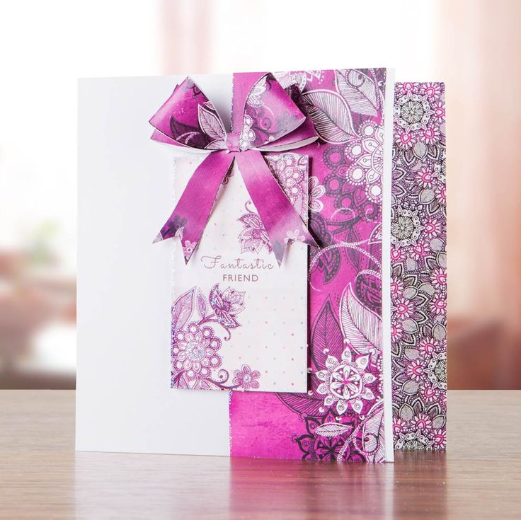 Fuchsia and pink card made using the Craftwork Cards Scrumptious and Velvet Plum Collection Pack! Available at Create and Craft - http://www.createandcraft.tv/Craftwork_Cards_Scrumptious_and_Velvet_Plum_Collection_Pack-336184.aspx?fh_location=//CreateAndCraft/en_GB/$s=336184&mobilebypass=1