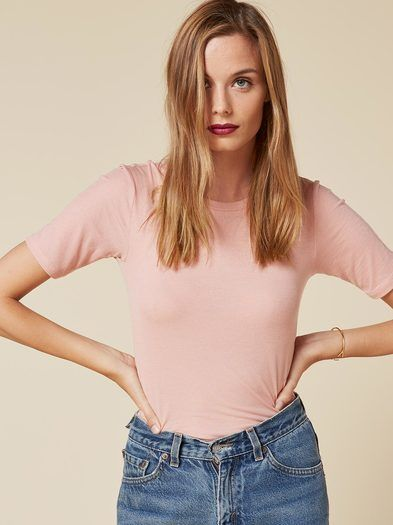 The Mikey Tee  https://www.thereformation.com/products/mikey-tee-blush?utm_source=pinterest&utm_medium=organic&utm_campaign=PinterestOwnedPins