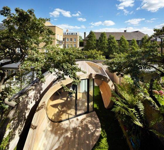 Dit tuinhuisje is ook een luxe persoonlijk kantoor