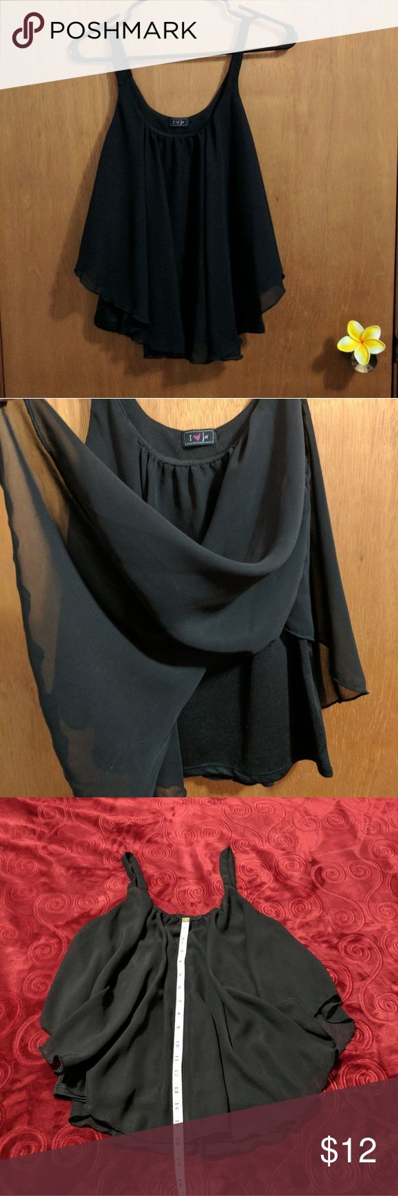Top Nice & flowy dressy top with lining.  Measurements shown in pics #3, #4, #5 Jeans Warehouse Tops Tank Tops