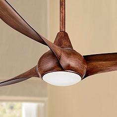 "52"" Minka Aire Light Wave Distressed Koa Ceiling Fan"