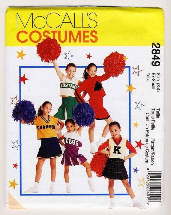 McCalls 2849 Girls Cheerleading Costumes by Noahslady4Patterns, $4.75