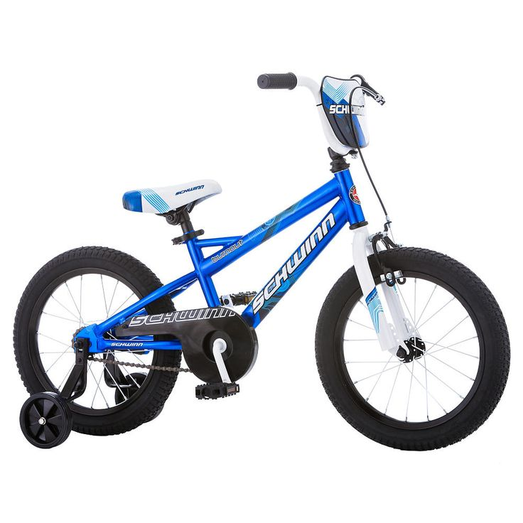 The Schwinn Burnout 16 Inch bike is the a great choice to get a new rider started on their cycling journey. Each Schwinn Smart Start bike is built with a child's proportions in mind.