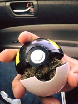 Pokeball grinder very cool....