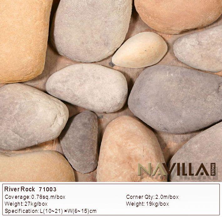 Navilla manufactured decorative river rock stone veneer for Decorative river stones