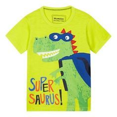 bluezoo Boys' yellow 'Supersaurus' t-shirt | Debenhams