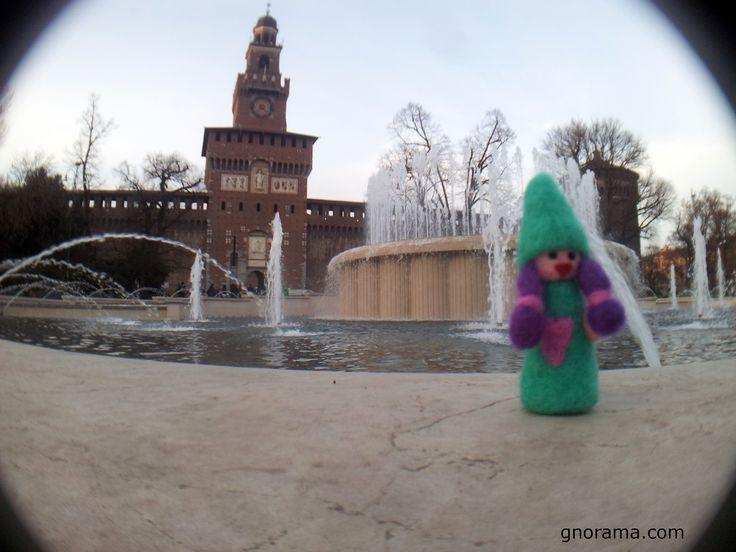 Visiting Castello Sforzesco in Milan! #gnorama #crafts #felt