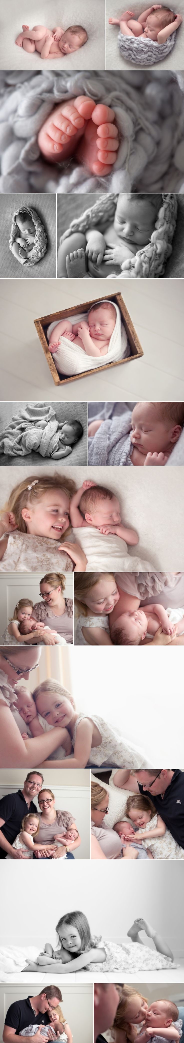 Love the mom-baby-daughter photo, and the sibling shot with the older daughter on her stomach.