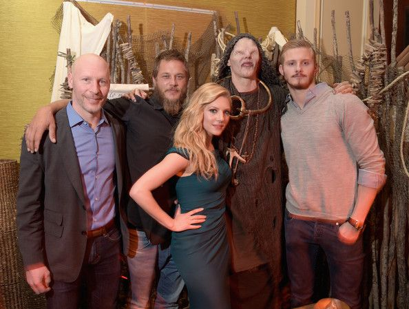 Travis Fimmel - Katheryn Winnick & Alexander Ludwig: JAN 2015 TCA History Vikings Party