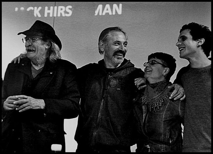 Jack Hirschman, Marco Cinque, Marco Lupo & me (© Vincenza Salvatore)