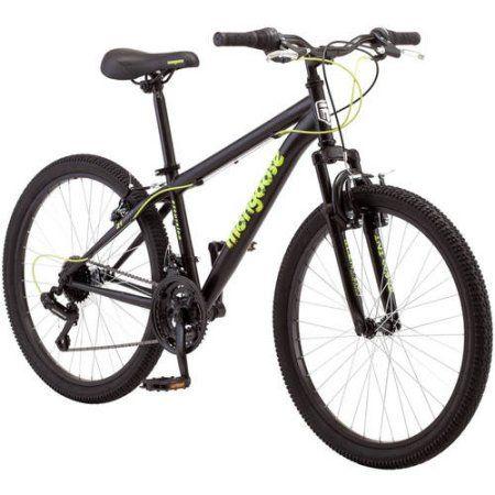 24 inch Mongoose Excursion Boys' Mountain Bike, Green