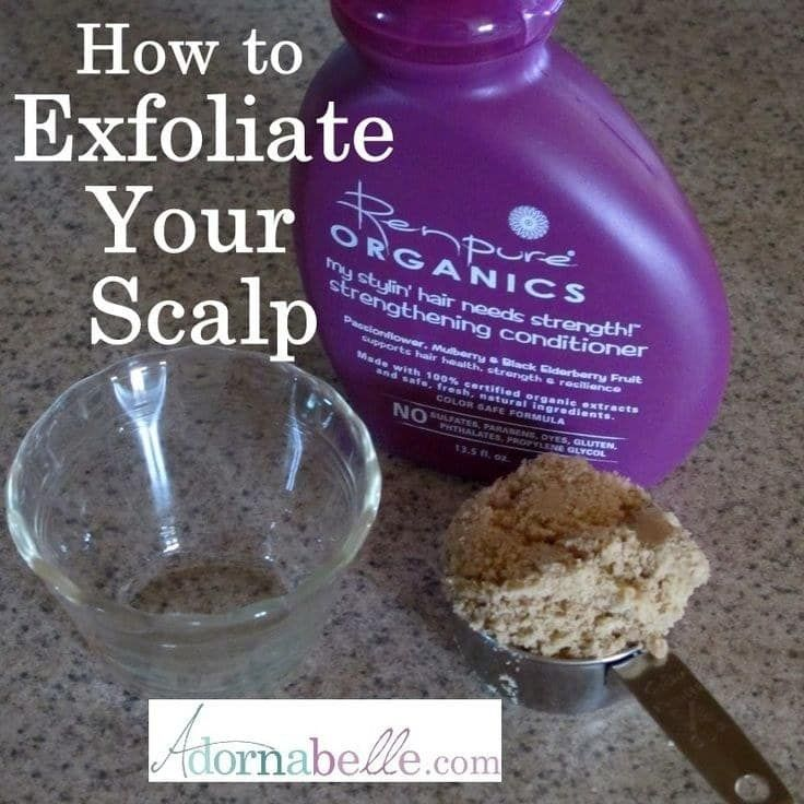A scalp exfoliator will help clean your hair follicles so your curls can live their life. All you'll need is brown sugar and conditioner. See the full tutorial here.