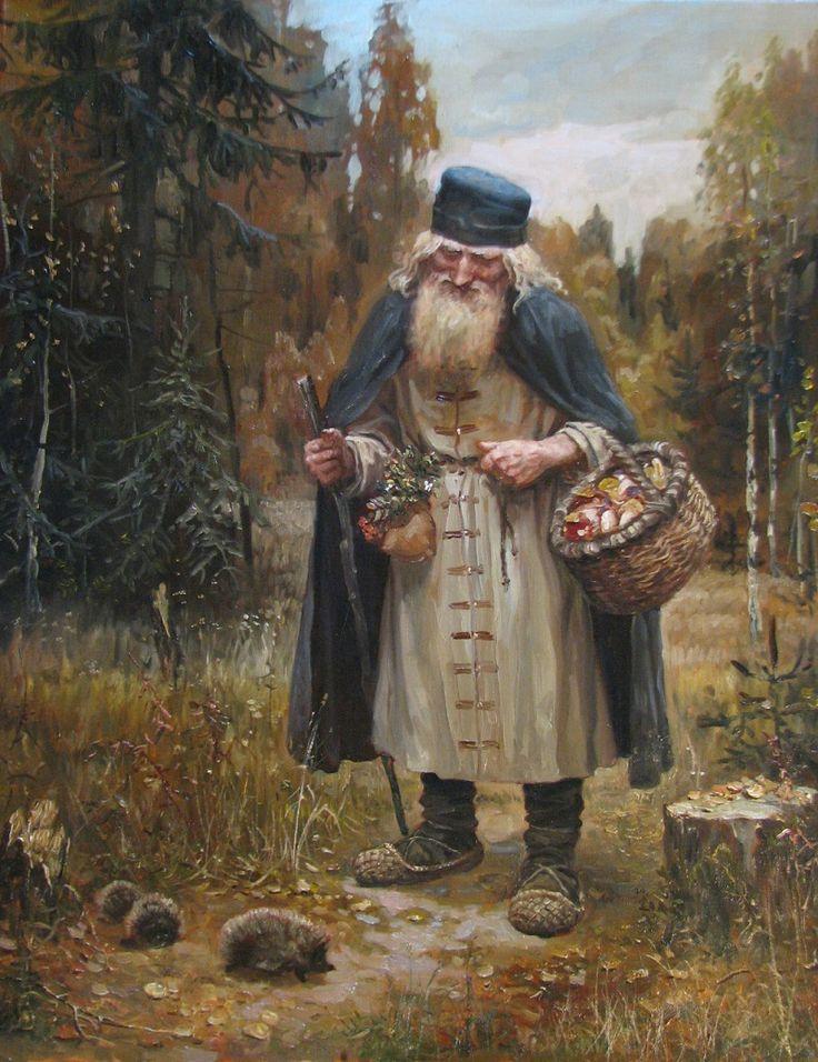 Ёжики - художник Андрей Шишкин