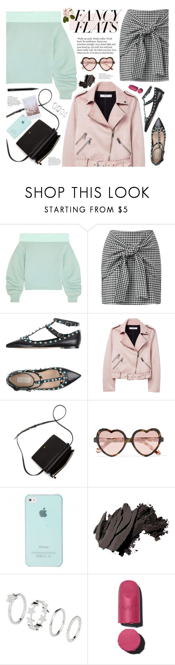 """fancy flats"" by valentino-lover ❤ liked on Polyvore featuring Opening Ceremony, Valentino, MANGO, Marc Jacobs, Cutler and Gross, Bobbi Brown Cosmetics, H&M, Chanel and MAC Cosmetics"
