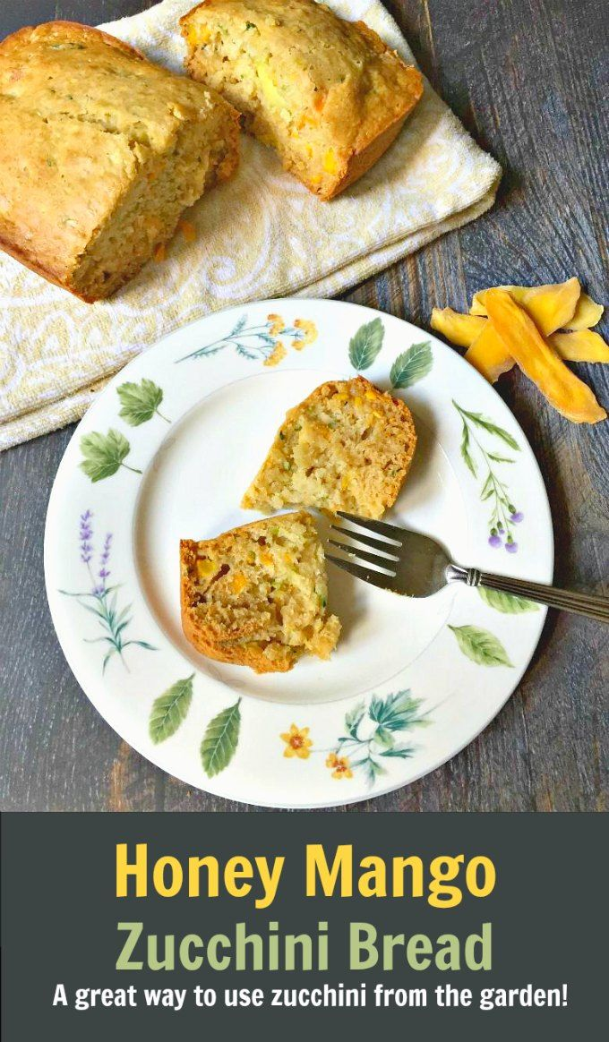 Honey Mango Zucchini Bread - a delicious quick bread that uses all that zucchini from the garden!