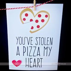 DIY Valentines Day Cards - You've Stolen A Pizza My Heart - Easy Handmade Cards for Him and Her, Kids, Freinds and Teens - Funny, Romantic, Printable Ideas for Making A Unique Homemade Valentine Card - Step by Step Tutorials and Instructions for Making Cute Valentine's Day Gifts http://diyjoy.com/diy-valentines-day-cards
