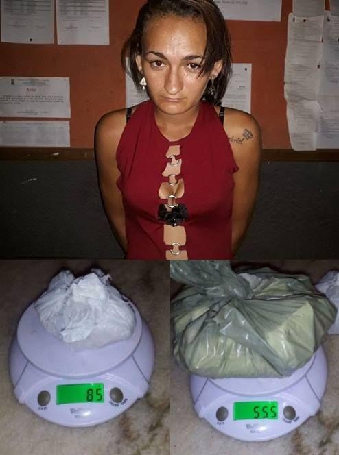 Policiais Militares do GTO (Grupo Tático Operacional) de Currais Novos apreenderam na madrugada deste sábado (03) cerca de meio quilo de cocaína e 85 gramas de crack