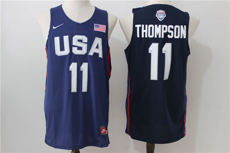 NBA 2016 USA Dream Team #11 Thompson Jersey Navy Blue