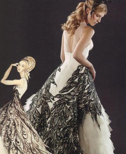 Флер делакур в свадебном платье