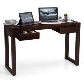 Austen Compact Desk (Mahogany Finish)