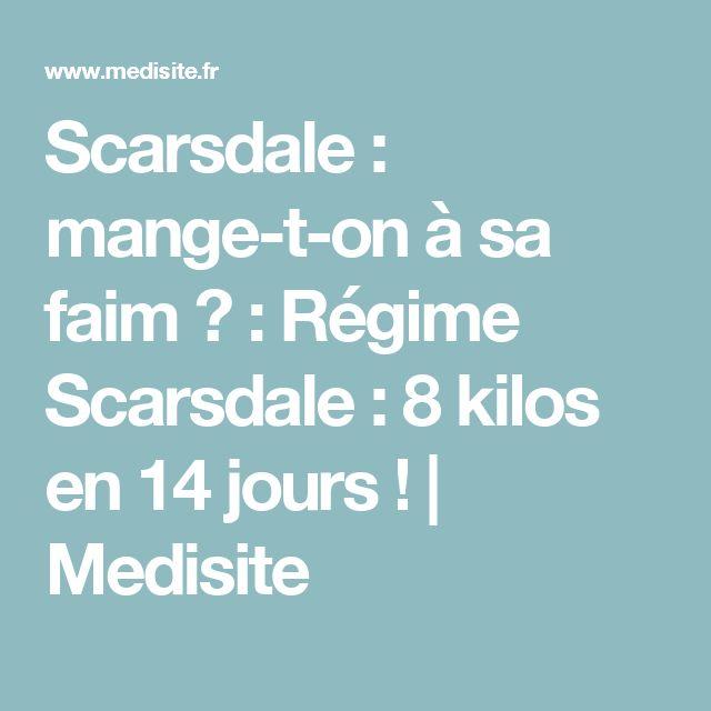 Scarsdale : mange-t-on à sa faim ? : Régime Scarsdale : 8 kilos en 14 jours ! | Medisite