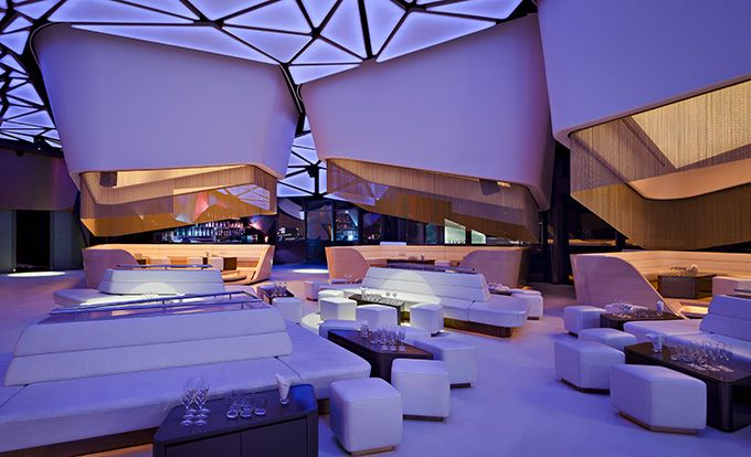 Cipriani's nightclub, Allure, at the Yas Island Yacht Club on Yas Island, has a few features that warrant at least one extra bat of even the most worldly of eyelashes.