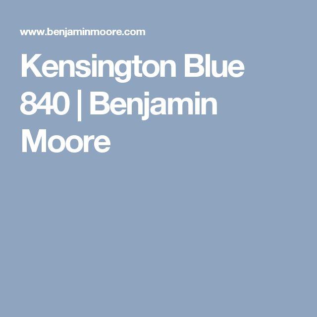 Kensington Blue 840 | Benjamin Moore