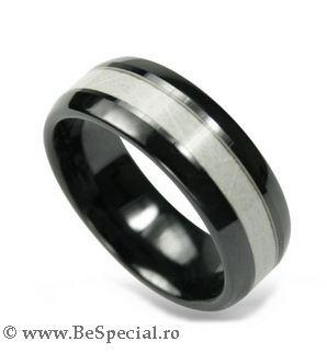 Inel din ceramica, pentru barbati - BeSpecial.ro