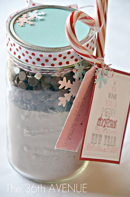DIY - Candy Cane Double Chocolate Chips Cookies Mix in a Jar + Packaging Full Step-by-Step Tutorial