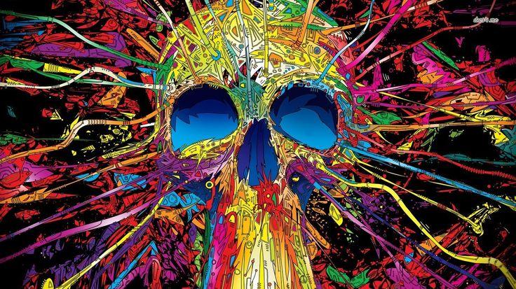1366x768 hd wallpaper skull