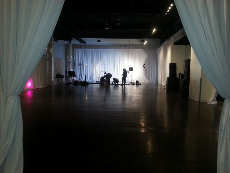 Setting up for a photo shoot @ The Warehouse Event Venue