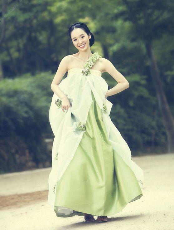 pretty green hanbok