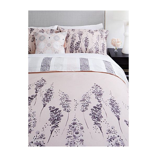 Samantha Pynn x Simons Hyacinth duvet cover set ($110) ❤ liked on Polyvore featuring home, bed & bath, bedding, duvet covers, queen bedding, king size duvet cover sets, king size duvet sets, gray pillow shams and queen duvet cover sets
