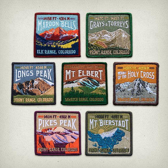The Colorado Patch Collection by ExpeditionCollect on Etsy