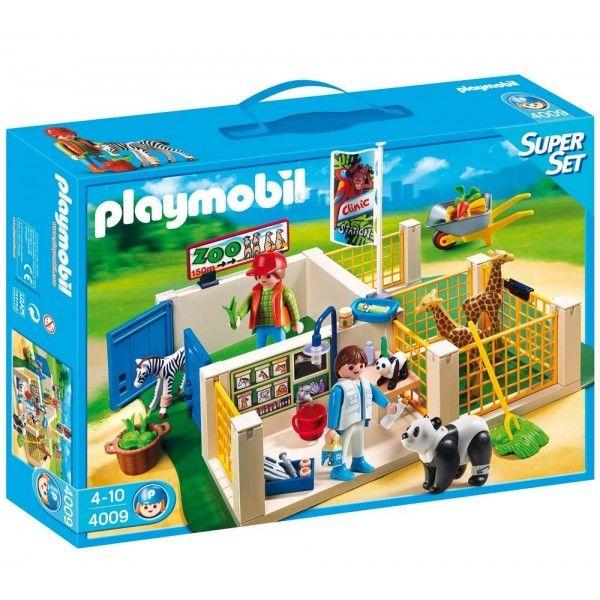 Playmobil 4009 - Stacja Opieki nad Zwierzętami ZOO - Super Set Animals - Zestaw klocków to doskonała zabawa dla dzieci, które kochają zwierzęta. Do dyspozycji mają całą stację do opieki nad zwierzętami w ZOO. Sprawdź co znajduje się w zestawie:)