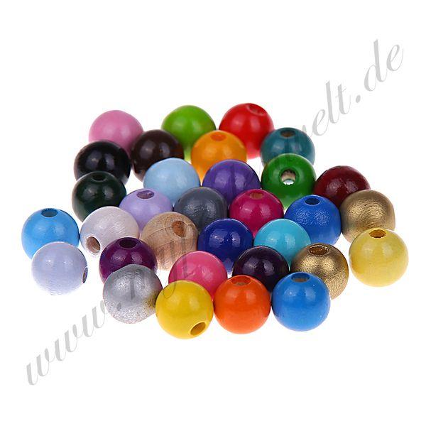 Holzperlen 10 mm  gemischt nach euren Wunsch  von my perlenwelt auf DaWanda.com