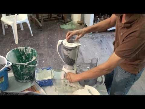 Educational video on making a small batch  (1-5kg / 1-10 lbs) of paperclay / paper clay  in a kitchen food blender