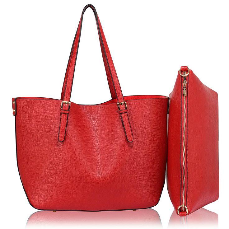 Barva kabelky: červená. Velikost 36 cm x 30 cm. Prostorná kabelka má vyjímatelnú taštičku v ceně.