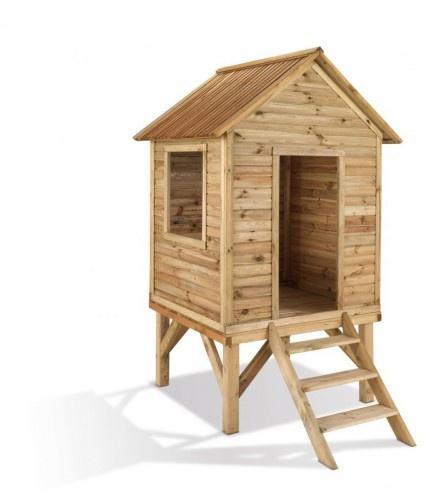 Sublimez les hauteurs avec cette cabane montée sur pilotis. Profitez d'une belle vue et d'une possibilité infinie de personnalisation ! Une cabane de haute qualité.