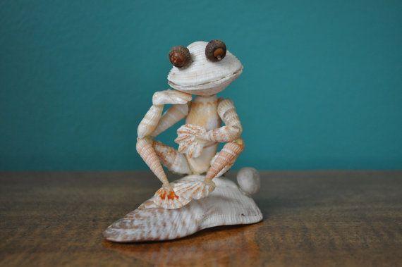 Seashell Frog by BCSeaShells on Etsy