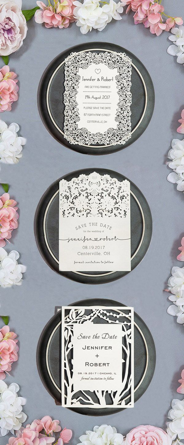 laser cut save the dates