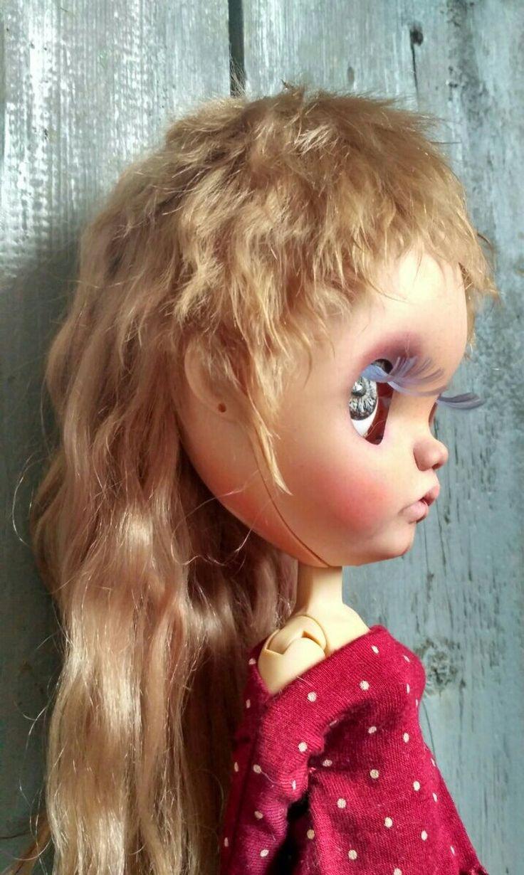 Mohair wig for Blythe Blythe doll hair mohair natural weft