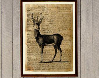 Wildlife decor herten afdrukken dier poster woordenlijst