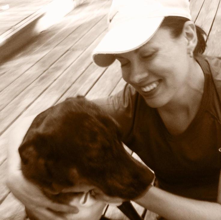 Ashlyn took this picture of me and Sunny headed out for a run. It's one of my favorites...Sunny Head
