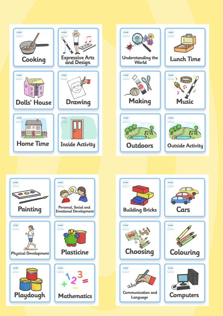 Free to download: Nursery / Foundation Stage 1 visual timetable