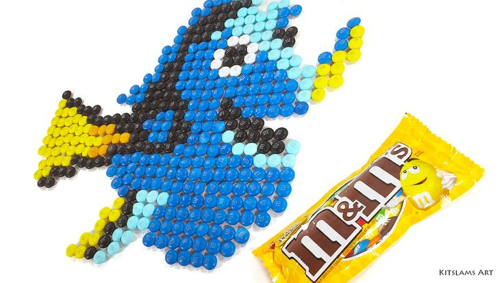 https://flic.kr/p/WbkFMN | M&M Mosaic of Dory | It's my M&M Mosaic of Dory from Pixar's Finding Dory.   Watch the Video: youtu.be/ZzU2GNVkoeE