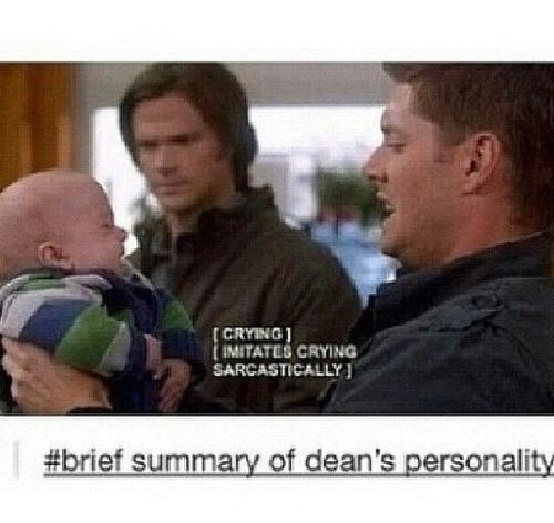 Brief summary of Dean Winchester's personality